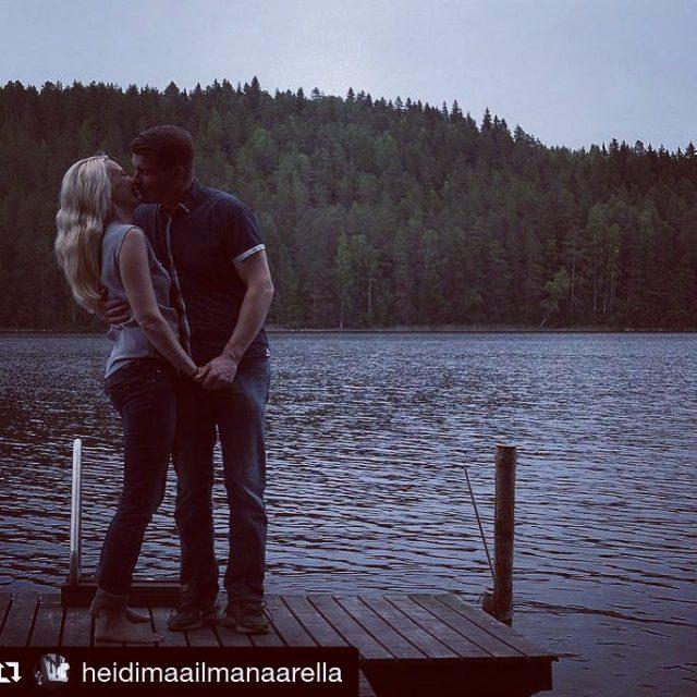 Rakkautta elokuisessa illassa Repost heidimaailmanaarella lovers summernight suomi100 luontoonfi finlandhellip